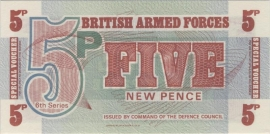 Engeland, Militaire uitgaven -- 5 New Pence 1972 M44-