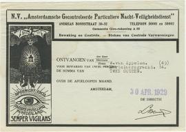 Nederland, Amsterdam, Nota, N.V. AGPN-V, 1929