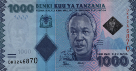 Tanzania P41.b 1.000 Shillings 2015 (No date)