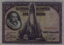 Spanje  P76 100 Pesetas 1928