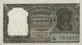 India P31 2 Rupees 1962-67 (No date)