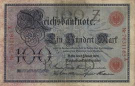 Duitsland P33.a 100 Mark 1908