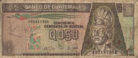 Guatemala P72 ½ Quetzal 1989-01-04