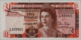 Gibraltar P20.e 1 pound 1975-88