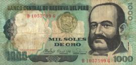 Peru P122 1.000 Soles de Oro 1981