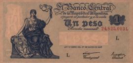Argentinië  P257 sign var2 1 Peso 1947