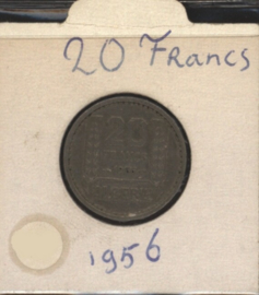 Algerije 20 Francs 1956 KM91
