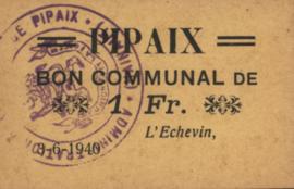 België - Pipaix  1 Franc 1940