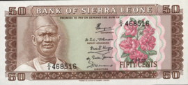 Sierra Leone P4 50 Cents 1972-84