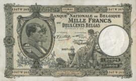 België P110.b 1.000 Francs / 200 Belgas 1928-1939