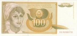 Joegoslavië P105 100 Dinara 1990