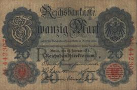 Duitsland P46.a 6 cijfers 20 Mark 1914