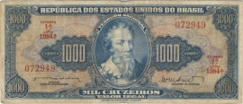 Brazilië P173.b: 1.000 Cruzeiros ND (1962) F/VF
