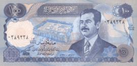 Irak P84 100 Dinars AH 1414