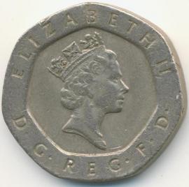 Engeland 20 Pence 1995 KM# 939