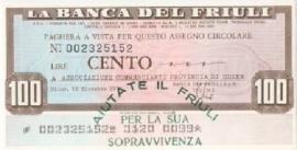 La Banca del Friuli - 100 Lire