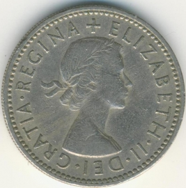 Engeland 1 Shilling 1954 English Arms KM# 904