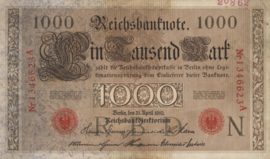 Duitsland P44.b 7 cijfers 1.000 Mark 1910 archiefstempel