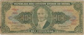 Brazilië P177.a 10 Cruzeiros No Date 1962 Goed