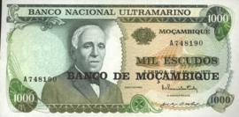 Moçambique P119 1.000 Escudos 1972