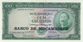 Moçambique P117.a 100 Escudos 1961 (No date)