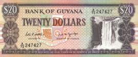 Guyana P27.a 20 Dollars 1988