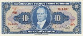 Brazilië P167.b 10 Cruzeiros (old) 1961-1963 (No Date)