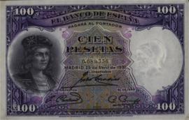 Spanje  P83 100 Pesetas 1931