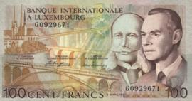 Luxemburg P14A 100 Francs 1981