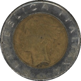 Italië KM111 500 Lire 1983R