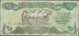 Irak P74 25 Dinara AH 1411