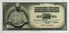 Joegoslavië P91.a 500 Dinara 1978