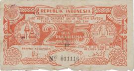 Indonesië Serang S124.V 25 Rupiah 1947