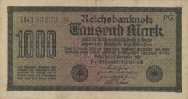 Duitsland Ros.075 1.000 Mark 1922-09-15 DEU-84.c