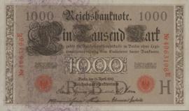 Duitsland P44.c: H 7 cijfers 1.000 Mark 1910