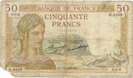 Frankrijk P81 50 Francs 1934-37