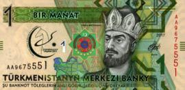 Turkmenistan P36 1 Manat 2017