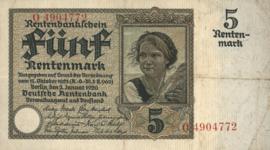 Duitsland P169.a 5 Rentenmark 1926