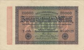Duitsland P085 20.000 Mark 1923-02-20 Ros.084e Wmk: Ster met G/D