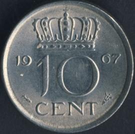 Sch. 1179 10 Cent 1967 Zilverkleurig