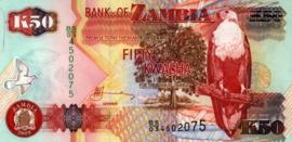 Zambia P37.h 50 Kwacha 1992 (No date)