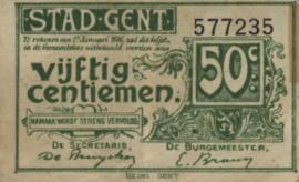 België - Gand  50 Centimes 1916