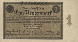 Duitsland P161.a 1 Rentenmark 1923