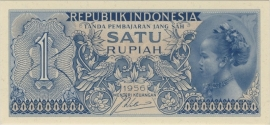 Republiek Indonesië P74 1 Rupiah 1956