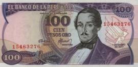 Colombia P418.a 100 Pesos Oro 1977