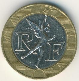 Frankrijk 10 Francs  KM964.1