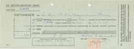 Nederland, Tilburg, Aflossing effecten, De Nederlandse Bank, 1928