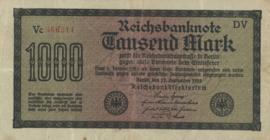 Duitsland Ros.075.f 1.000 Mark 1922-09-15 DEU-86.b