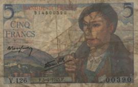 Frankrijk P98.a 5 Francs 1943-1947