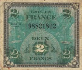Frankrijk P114.a 2 Francs 1944
